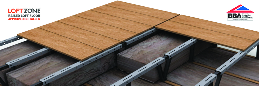 LoftZone raised loft storage flooring system is BBA approved